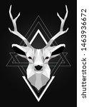 polygonal low poly deer design | Shutterstock .eps vector #1463936672