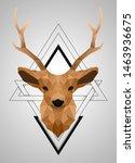 polygonal low poly deer design | Shutterstock .eps vector #1463936675