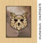 owl bird low poly design | Shutterstock .eps vector #1463936678