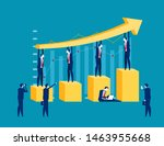 successful business. concept... | Shutterstock .eps vector #1463955668