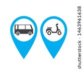 transport buttons set with map... | Shutterstock .eps vector #1463961638