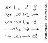set of hand drawn arrow vector   Shutterstock .eps vector #1463965238