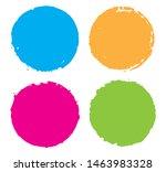 grunge circles set. grunge... | Shutterstock .eps vector #1463983328