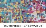 handmade surreal abstract... | Shutterstock . vector #1463992505