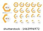 set of percentage diagrams from ...