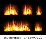 realistic editable fire flames... | Shutterstock .eps vector #1463997122