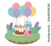 happy birthday surprise design... | Shutterstock .eps vector #1464009638