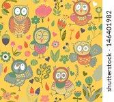 seamless gentle texture with... | Shutterstock .eps vector #146401982