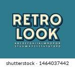 vector creative sign retro look ...   Shutterstock .eps vector #1464037442