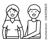 young lovers couple avatars...   Shutterstock .eps vector #1464058835