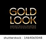 vector premium sign gold look.... | Shutterstock .eps vector #1464065048