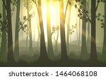 tree trunks background. sunset... | Shutterstock .eps vector #1464068108