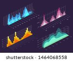 isometric wave charts. color 3d ...