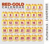 date of calendar icon. flat... | Shutterstock .eps vector #1464093005