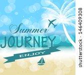 summer holidays vector... | Shutterstock .eps vector #146409308