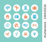 travel icons  flat style | Shutterstock .eps vector #146410226