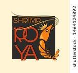 royal shrimp in squared. symbol ... | Shutterstock .eps vector #1464124892