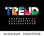 vector of stylized modern font... | Shutterstock .eps vector #1464152648