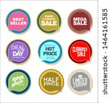 collection of colorful sale... | Shutterstock . vector #1464161585