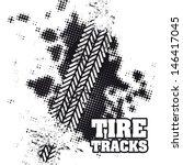 tire tracks over white... | Shutterstock .eps vector #146417045