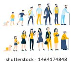 woman and man in different age. ... | Shutterstock .eps vector #1464174848