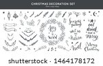 christmas decoration vector... | Shutterstock .eps vector #1464178172