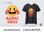 maniac smile. prints on t... | Shutterstock .eps vector #1464184985