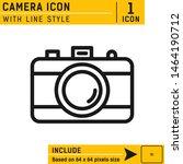 camera vector icon. social...