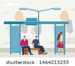 urban public transport  city... | Shutterstock .eps vector #1464215255