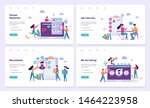 recruitment web banner concept... | Shutterstock .eps vector #1464223958