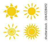 sun icon set vector isolated.... | Shutterstock .eps vector #1464228692