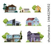 house set. collection of... | Shutterstock .eps vector #1464229052