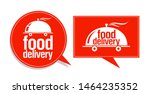 food delivery symbols  signs or ... | Shutterstock .eps vector #1464235352