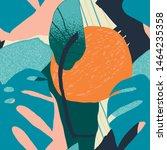 contemporary tropical exotic... | Shutterstock .eps vector #1464235358
