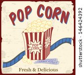 popcorn with film strip and... | Shutterstock .eps vector #146424392