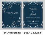 wedding invitation collection...   Shutterstock .eps vector #1464252365