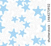 seamless nautical pattern on... | Shutterstock . vector #1464273932