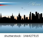 moscow skyline   vector... | Shutterstock .eps vector #146427515