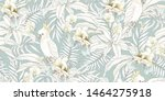 seamless tropical pattern with... | Shutterstock .eps vector #1464275918