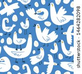 cute naive seamless pattern... | Shutterstock .eps vector #1464282098