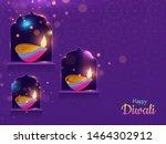 spread lighting in corner with... | Shutterstock .eps vector #1464302912