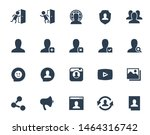 social media and network vector ... | Shutterstock .eps vector #1464316742