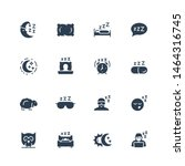 sleep related vector icon set... | Shutterstock .eps vector #1464316745