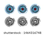 cyber eye or retina scanning... | Shutterstock .eps vector #1464316748