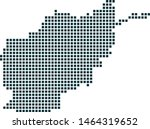 afghanistan map dotted style....