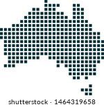 austria map dotted style....
