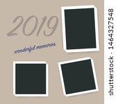 polaroid square photo frames on ... | Shutterstock .eps vector #1464327548
