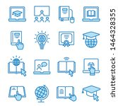 online education flat line... | Shutterstock .eps vector #1464328355