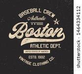 boston. sport theme. vintage... | Shutterstock .eps vector #1464334112