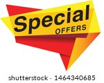 special offer tag vector eps 10 | Shutterstock .eps vector #1464340685